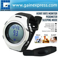 Heart Rate Monitor 40~240bpm Pedometer Belt Fat Calorie Counter Digital Sports Fitness Watch Sleep Walk Run Timer