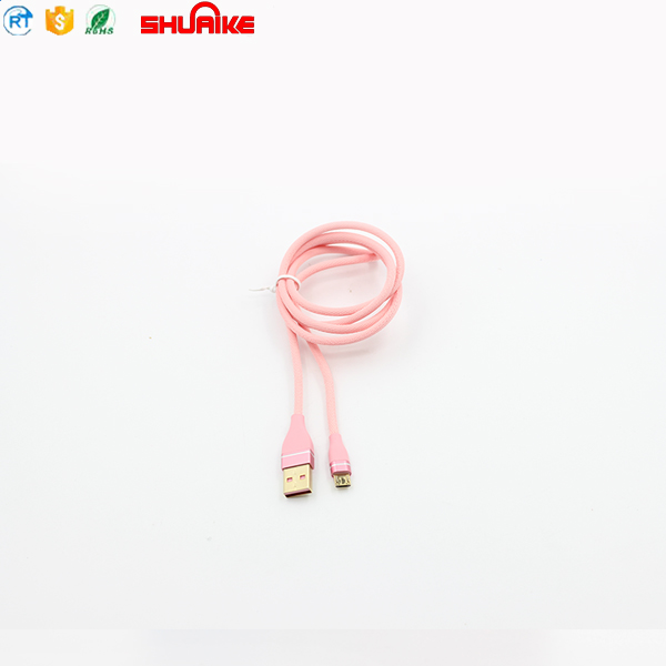 Wholesale Nylon Braided USB Data Sync Charging Charger Cable/ Fast Transmit Micro USB Data Cable/ Micro USB Cable