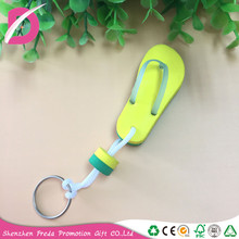 2018 new products customized EVA foam floating keychain flip flops keyring