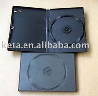 14mm Single Black Plastic Automatic Packaging Long DVD Case
