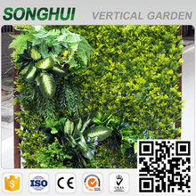 outdoor colorful ornamental fake plant walls for landscape decoration