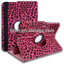 360 Degree Rotating Case Cover For Samsung Galaxy Tab 3 10.1inch red leopard print