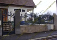 Strong security forged iron fencing