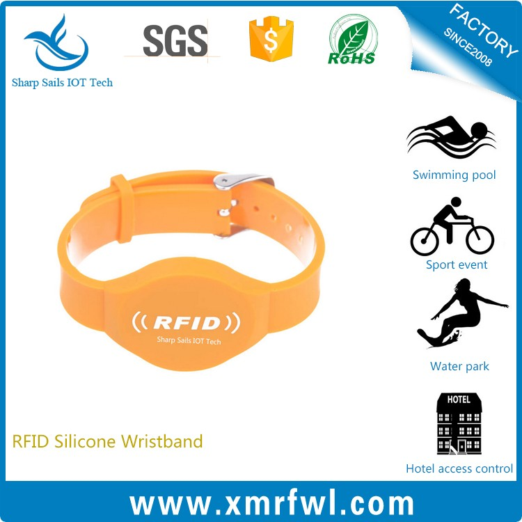 New year fashion design RFID silicone event wrist band