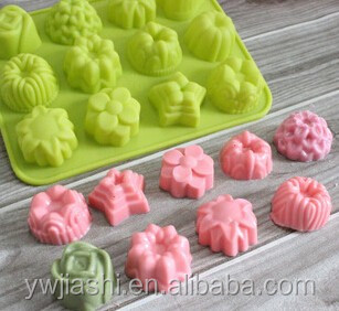 12 caverity rose silicon mould, flower rose cake mold, rose sugar mold