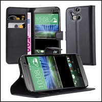 Wallet Leather Moblie Phone Case Cover for HTC One M8