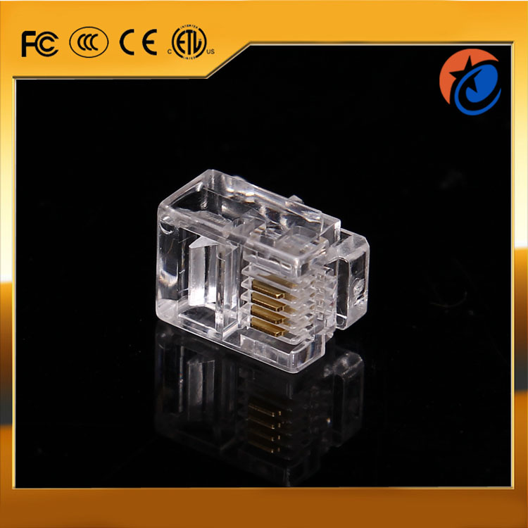 Wholesale high quality RJ11 plastic male network cable telephone cable connector 6P4C crystal modular plugs