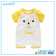 2017,Hot sale short sleeves baby romper toddler cotton clothing