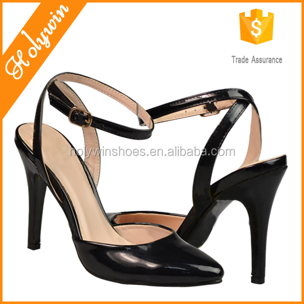 Ankle strap two part high-heel lady dress shoe