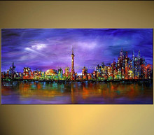 Prosperous city landscape painting for sale competitive price
