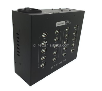 Industrial High-Power USB HUB 20ports USB HUB Built-in 100W Power Adapter