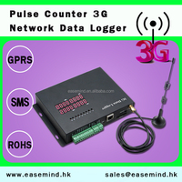 Industrial Usage and Temperature Recorder Pulse Counter gsm Data Logger for 3G Network