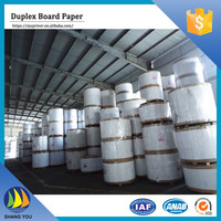 Wholesale china paper carton duplex board with white back paper 250gsm for wine box