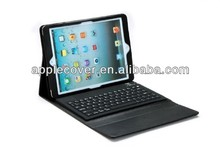 Wireless Bluetooth keyboard leather Case for iPad air with silicone Keyboard
