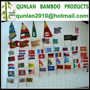 Customized Bamboo Flag Toothpicks