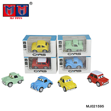 wholesale 1:48 metal decorative funny baby toy vintage car model with eye