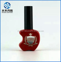 15ml empty custom made nail polish glass bottle unique cheap nail polish bottle with cap