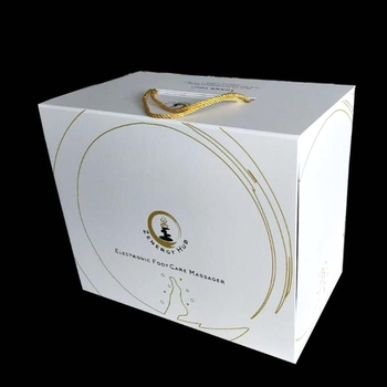 Custom Rigid Lid Flat Pack Luxury Magnetic Gift Box With Handle