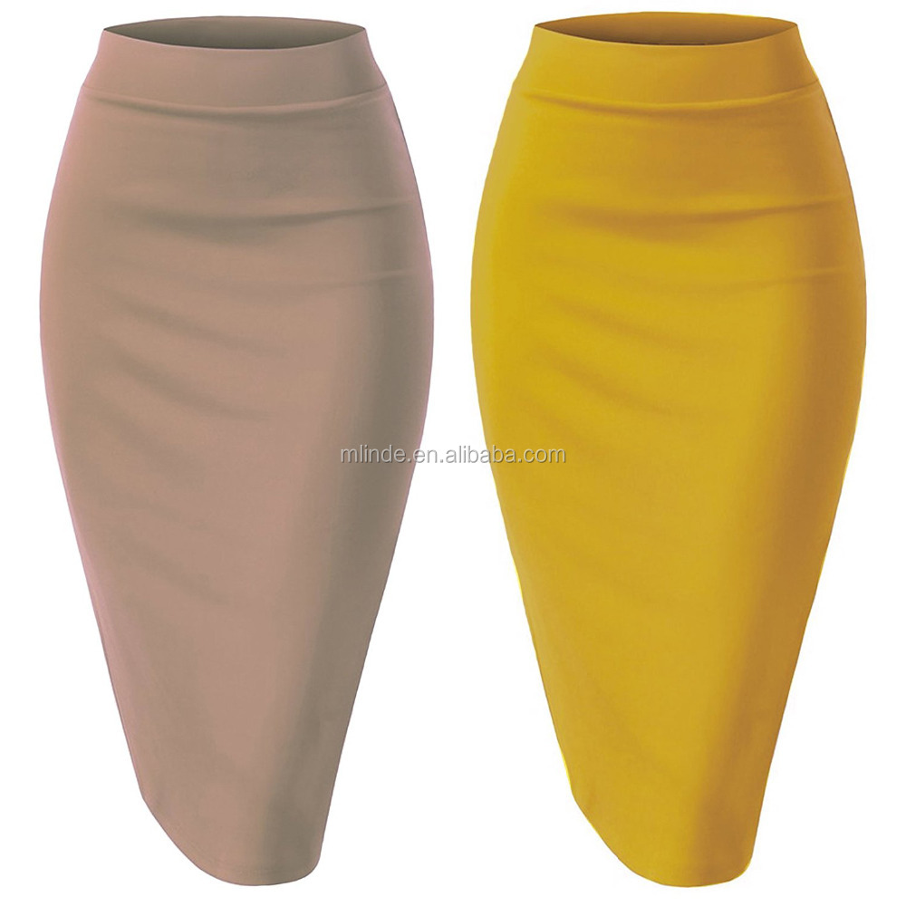 Sexy Fashion High Waist Tights Skirts for Women Elastic Waist Band Stretchy Fabric Pencil Skirt Wholesale Custom