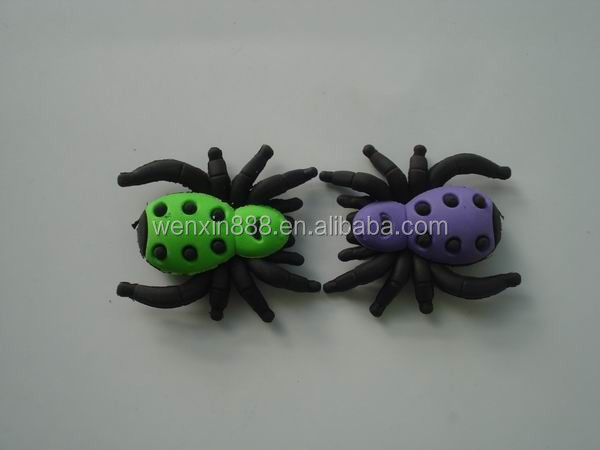 promotional 3D cute animal toy spider eraser