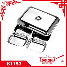 Stainless Steel Lunchbox tray plate roasting pan