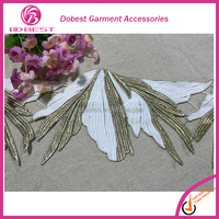Dress Trimming Garment Accessories Gold Chemical Lace Trim