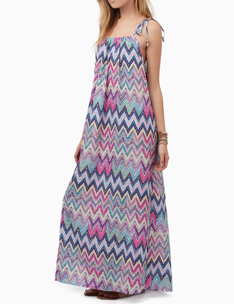 Custom design latest casual printed long dress bohemian quality maxi plus size dress