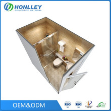 Honlley cheap mobile modular all in one bathroom units, fiberglass bathroom units prices