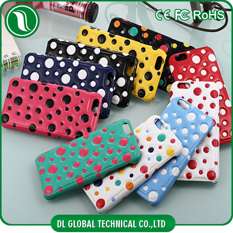 alibaba china PU+PC Polka dot design 3d mobile phone cover for iPhone 6