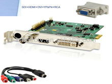 PCIe HDM Video Capture Card With SDI DVI VGA YPbPr