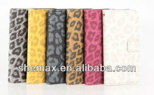 Leopard grain cellphone cover For iphone 5c ,leather shell for iphone5c
