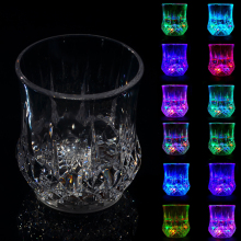 Water Activated Light Rainbow Color Changing Pineapple Shape Led Glass Cup For Wedding Party Decoration