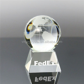 Wholesale design ideas crystal world globe with trophy base