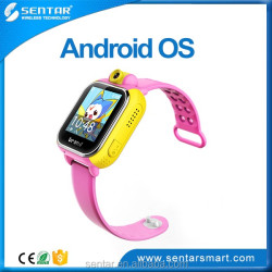 GPRS real-time positioning watch with pedometer GEO-fense 90 degree rotated camera for taking pictures by kids