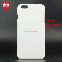 Factory White Glossy Matte PC Blank Sublimation 3D Mobile Phone Case For iphone 6 Plus Heat Transfer Print
