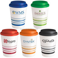 12oz wholesale plastic double wall coffee cup with printing