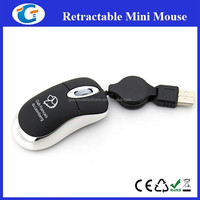 Computer accessory extendable usb cable mini optical wired mouse