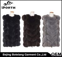 Eco-tan Real fox vest high quality women fur clothes China OEM