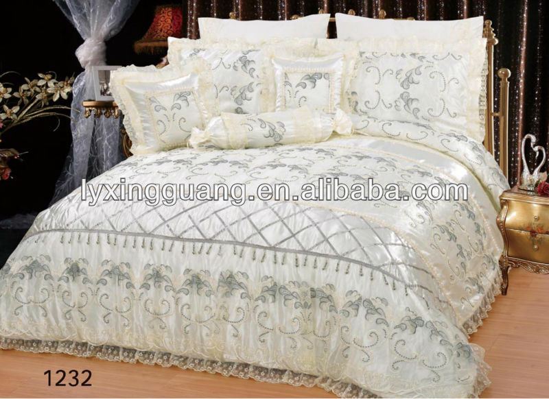 white silk Wedding Comforter