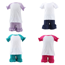 Hot selling baby products 2016 summer kids clothes baby garment design cotton 2 pcs girls children's clothing sets