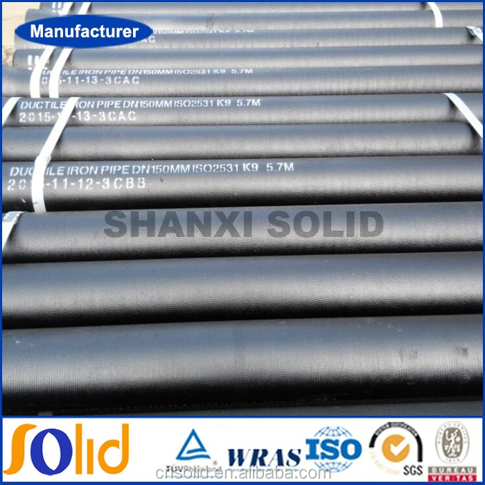 ISO 2531 / EN 545 K9, K7, C Class Ductile cast iron pipe China