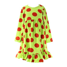 Boutique fashion high quality baby girl polka dot dresses kids cotton babies frocks images winter
