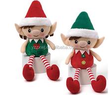 plush elf toy/elf soft toy christmas elf toy/free sample new design plush elf doll toys