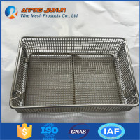 Brand new mesh wire kitchen vegetable storage baskets stainless steel wire mesh baskets with high quality