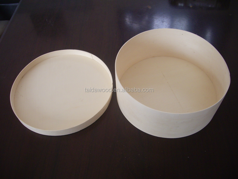 round wholesale wooden cheese boxes