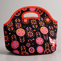 Fancy Neoprene Lunch Bag With Zipper