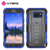 Rugged back phone case for Samsung galaxy s7 active silicone+pc armor combo case