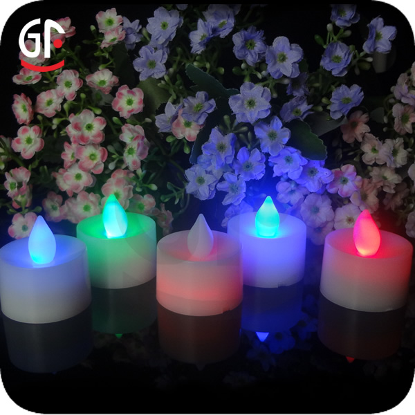 Alibaba French Flameless Plastic Colored Led Solar Candle Lamp