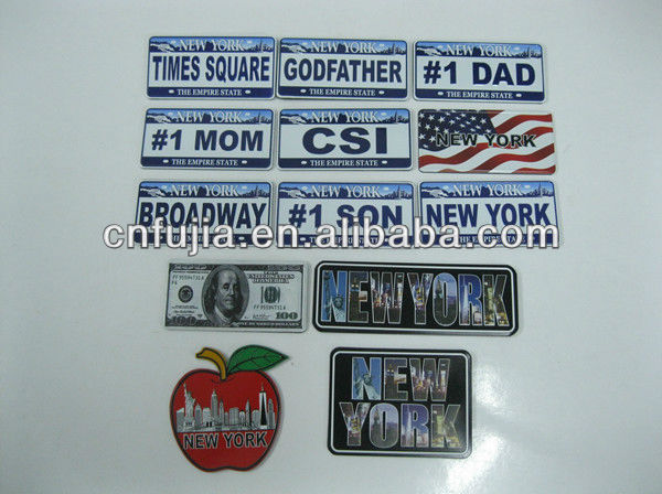3D cheap fridge metal magnet, aluminum palte fridge magnet