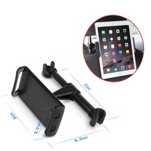 360 degree free rotation car rear pillow tablets stand smartphones holder,universal car headrest pad tablets mount